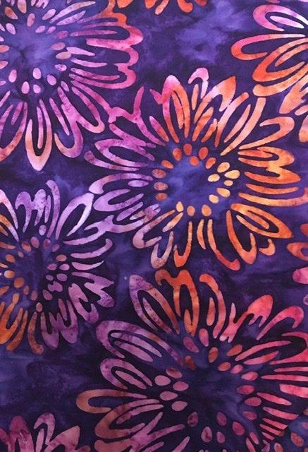 Bright Blooms Batiks - Purple