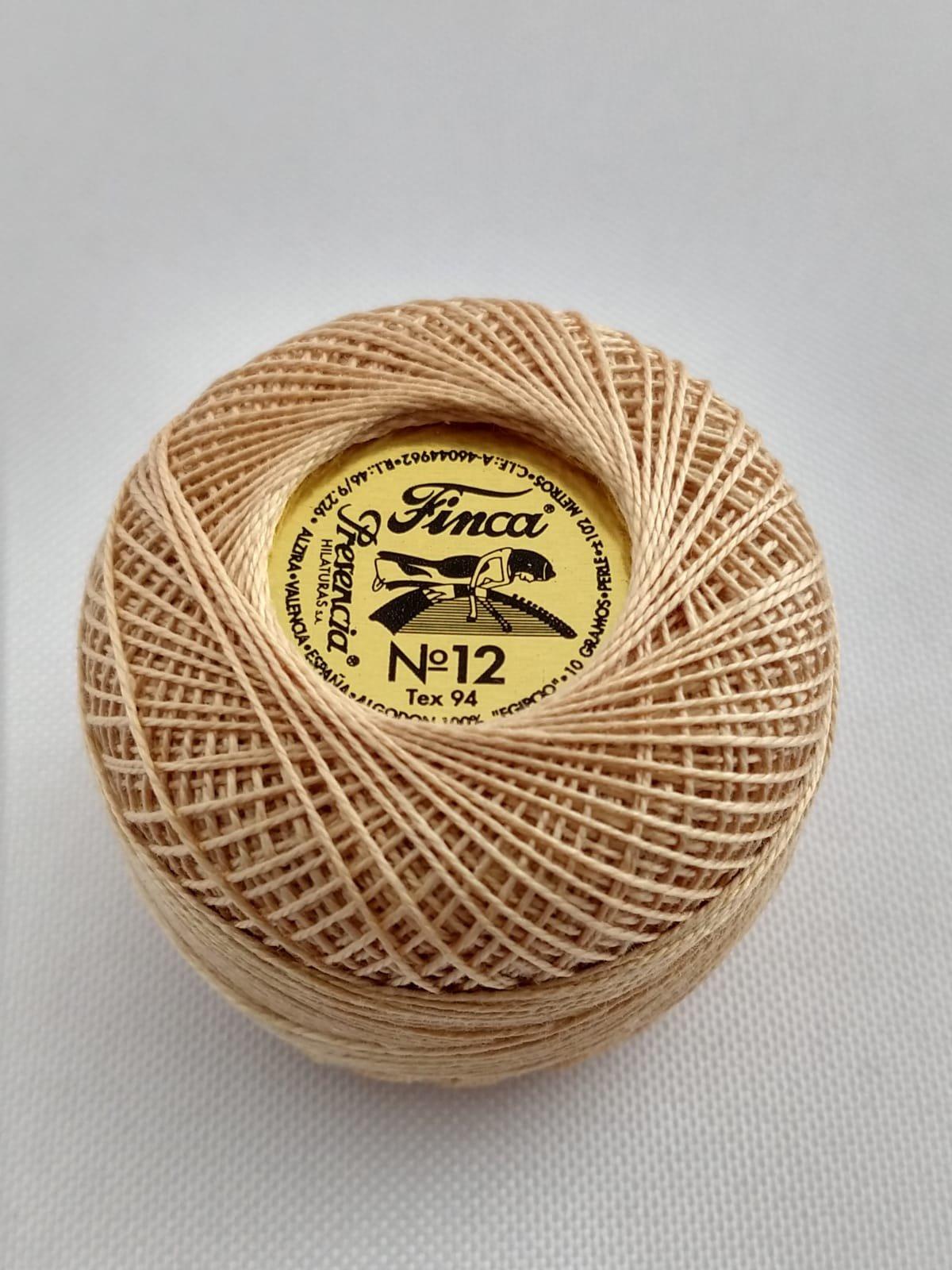 Finca Perle Cotton  Sz 12 - #8060 Vert Light Brown