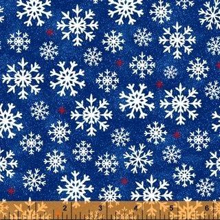 Christmas USA - Snowflakes Blue