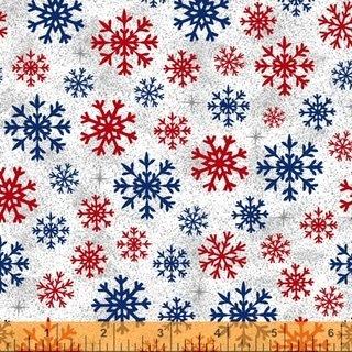 Christmas USA - Snowflakes White