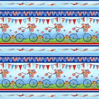 Star Spangled Summer- Novelty Stripe
