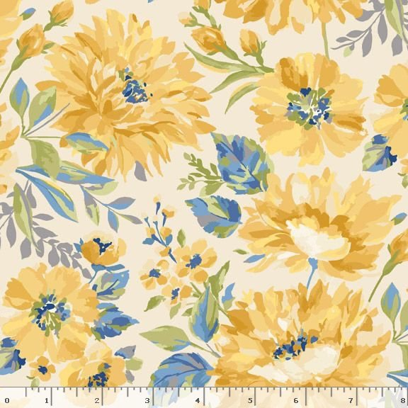Yellow Sky-Flower - Lt Cream 2129