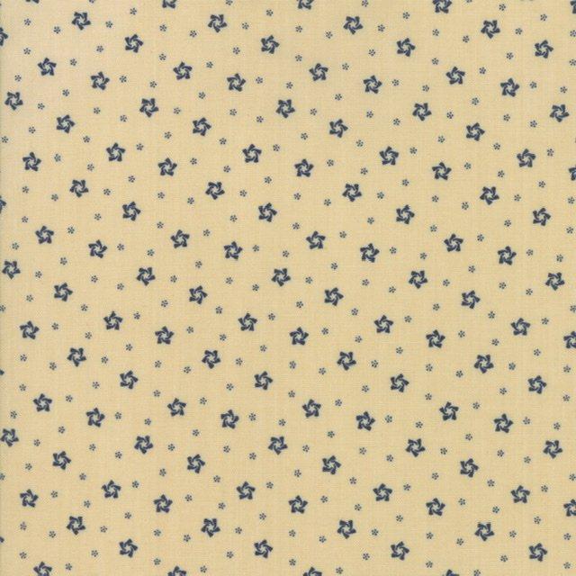 Star Stripe Gatherings - 1264-14 Tan/Blue