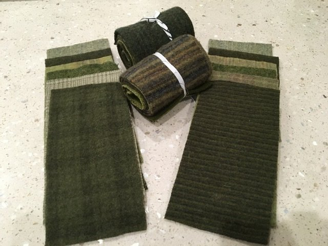 Wool 4x8 - Green Roll Up