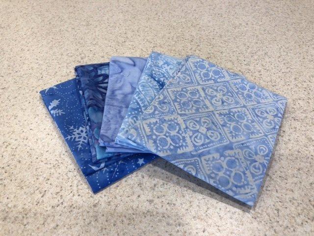 Batik Blue #3 - Five Pack
