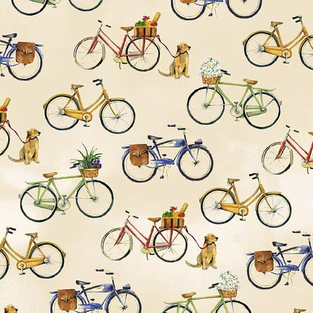 Coastal Paradise - Beige Bicycles