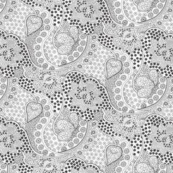 Opposites Attract - Linear Floral White