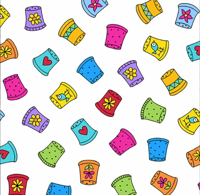 Sew Happy A-9868-L Thimble Collection (white)