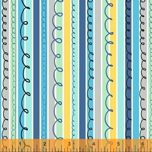 A to Zoo - Scribble Stripe - Blue