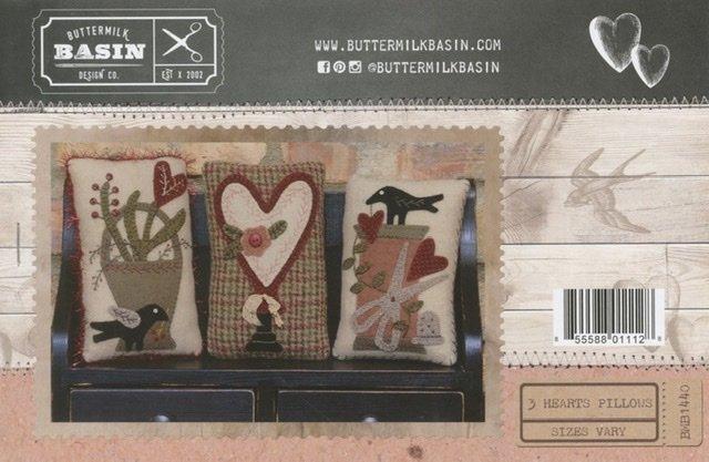 3 Hearts Pillow