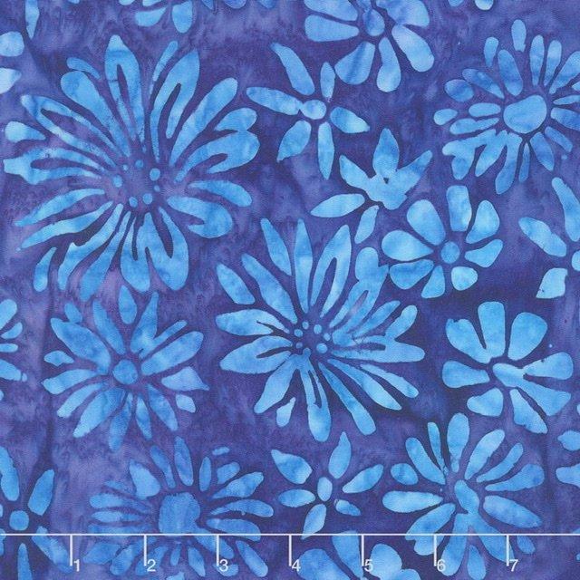 Bright Blooms Batiks - Blue