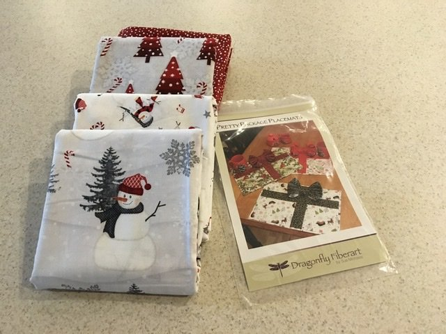 Pretty Pkg Placemat Snowy Wishes Kit
