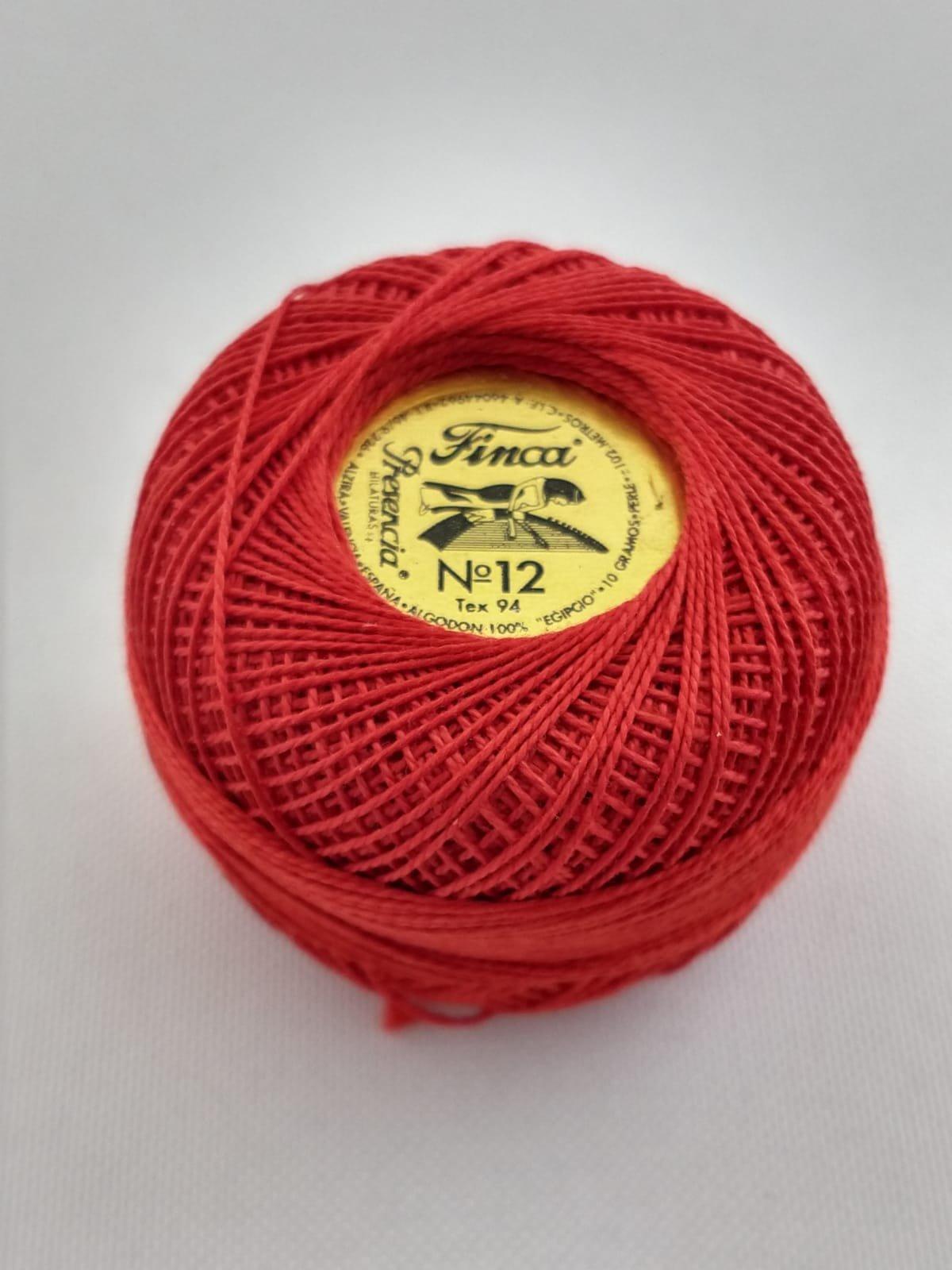 Finca Perle Cotton  Sz 12 - #1490 Dark Coral