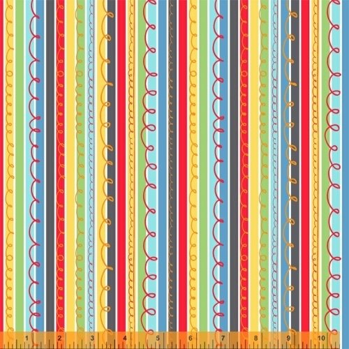 A to Zoo - Scribble Stripe - Multi