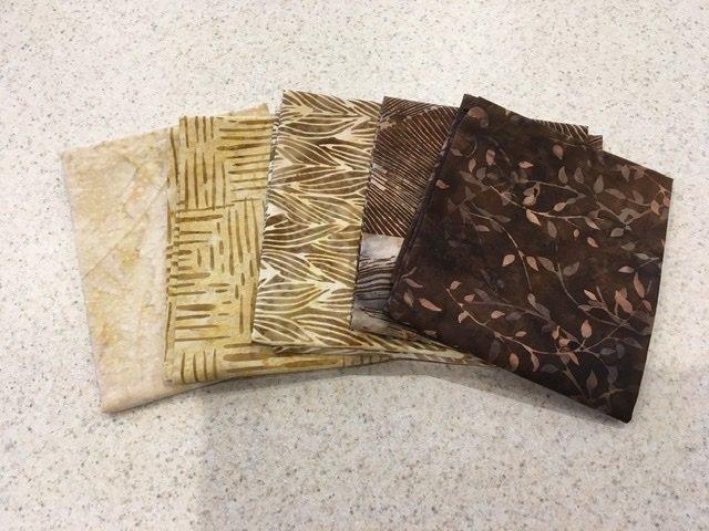 Batik Brown #1 - Five Pack
