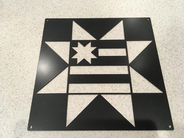 Metal Quilt Block 12 inch-American Star