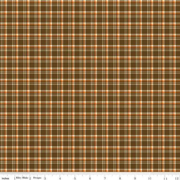 Give Thanks C9525 Plaid Brown