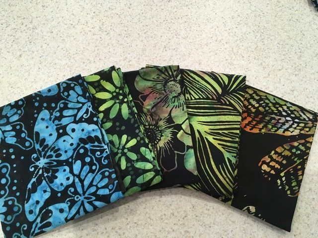 Batik Multi Black #1 - Five Pack
