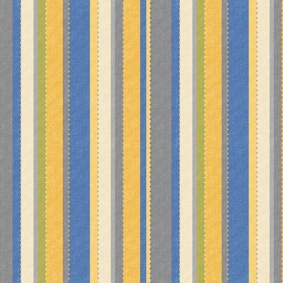 Yellow Sky-Dot Stripe - Blue Yellow 2111