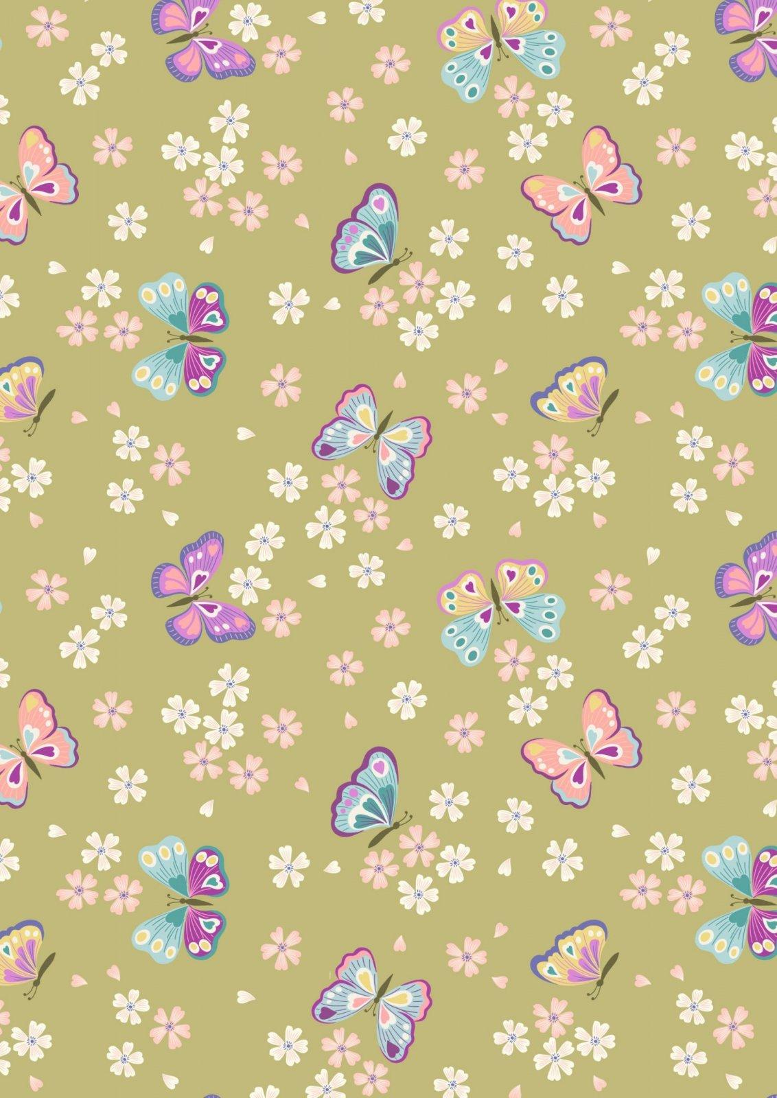 Love Blooms - A523.3 Butterflies on Summer Green