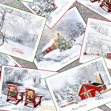 Back Home - Winter Scene Postcards