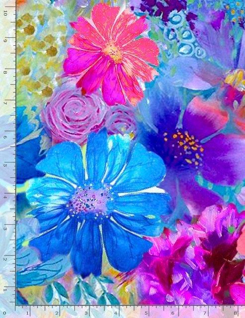 Painted Paradise - Large Floral Multi