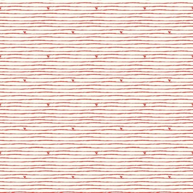 From the Heart - Stripe Cream C10054R