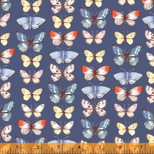 Farm Meadow - Butterflies Navy