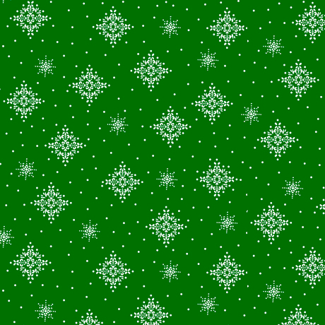 Back Home - Snowflakes Green