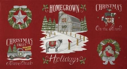 Homegrown Holiday Panel - Barn Red