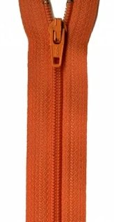 14 inch Zipper - 322 Orange Peel
