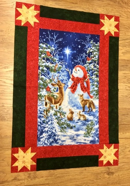 Starry Night Snowman & Animals Quilt Kit