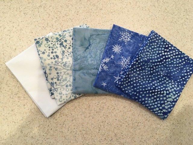 Batik Mix Blue #2 - Five Pack