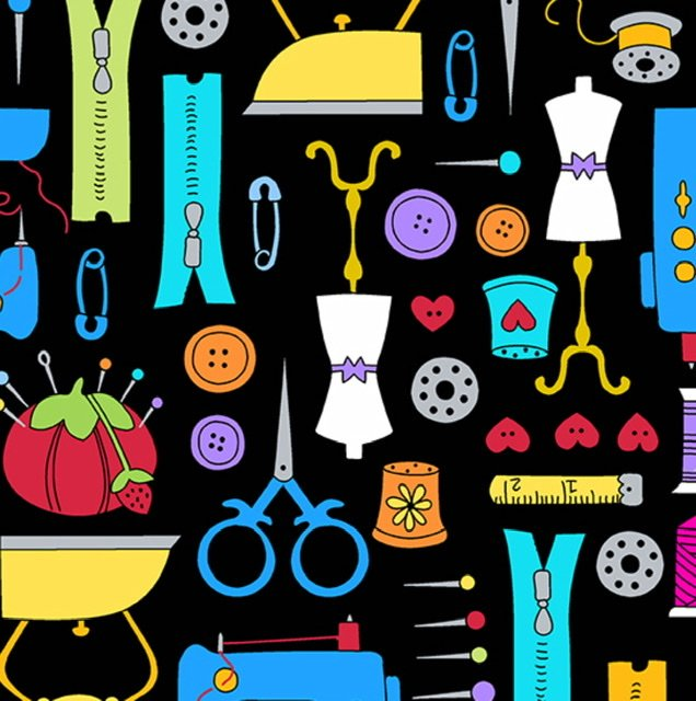 Sew Happy A-9866-K  Notions (black)