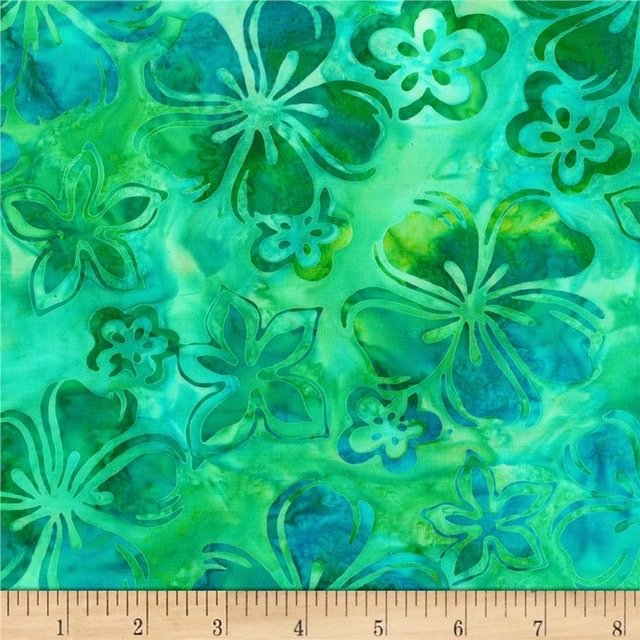 Bright Blooms Batiks - Pool