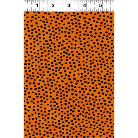 Midnight Glow Orange Dots