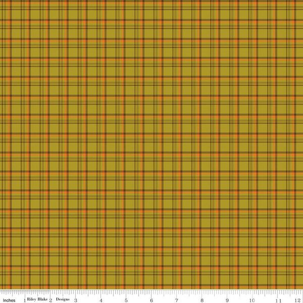 Give Thanks C9525 Plaid Olive