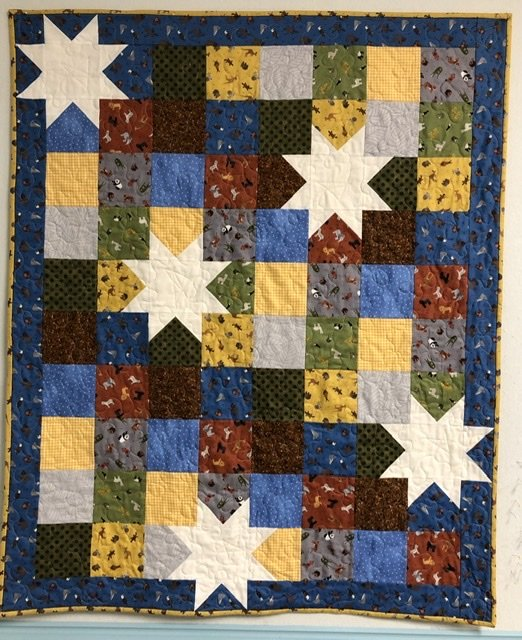 Oh My Stars - World Animals Quilt Kit