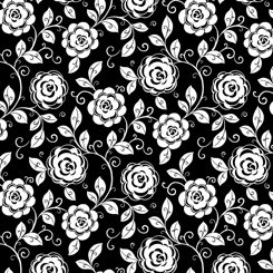 Opposites Attract - Mod Floral Black