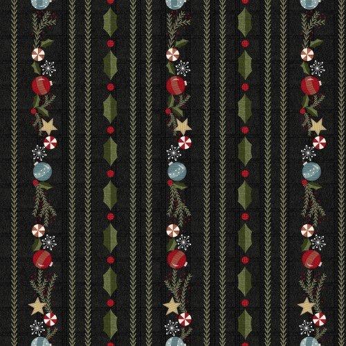 Snowdays Flannel - Border Stripe 9932JK