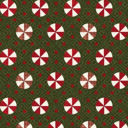 Snowdays Flannel - Peppermint Green 9936G