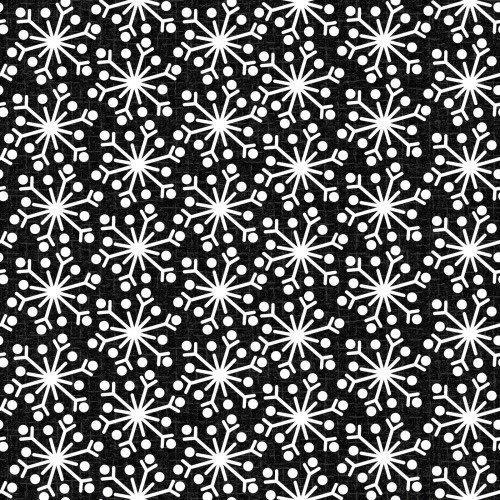 Snowdays Flannel - Snowflake Black 9938JK