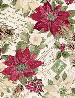 Holiday Metallic Poinsettia-Cream