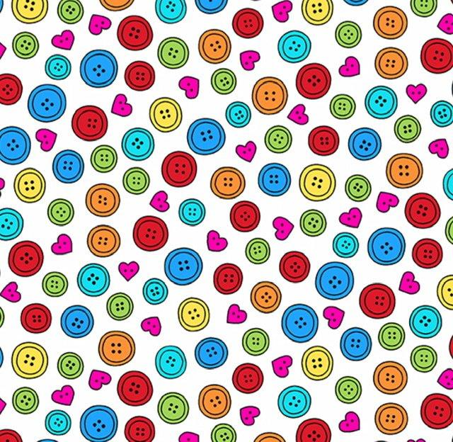 Sew Happy A-9867-L Button Collection (white)