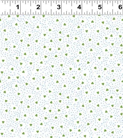 Indigo Triple Dot - White