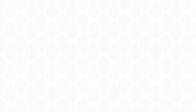Makower Essentials - 1910 W1 Leaf White on White