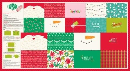 Safety First Holiday Mask Panel 24 x 44