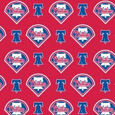 MLB Cotton  Phillies - 60in wide