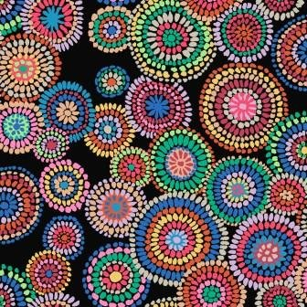 Kaffe Mosaic Circles - PWGP176 Black
