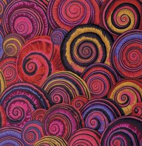 Kaffe Spiral Shells - PWPJ073 Red XX